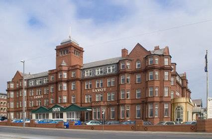 exterior view of the savoy hotel blackpool